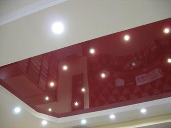 фото потолок из пластика