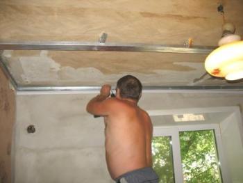 крепление подвесного потолка