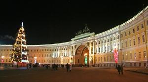 Дворцовая площадь в Новый Год
