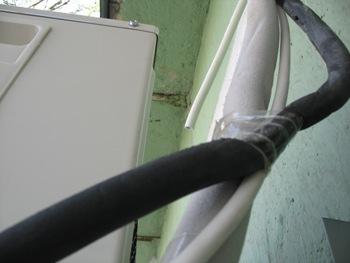 наружный блок кондиционера, обмотка трассы