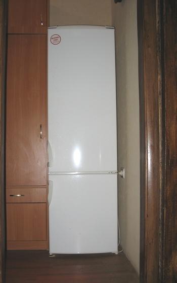 узкий холодильник Gorenje RK-41295 W шириной 54 см в коридоре